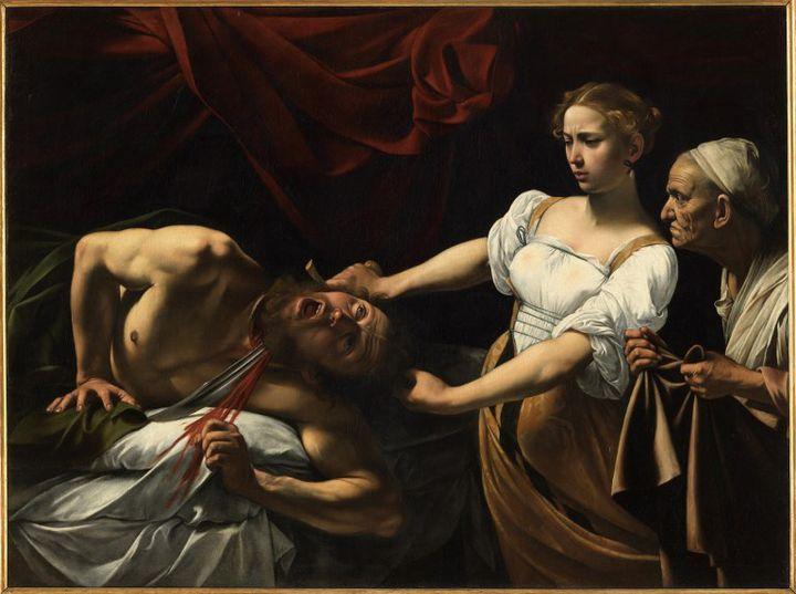 """Judith et Holopherne"". Peinture de Michelangelo Merisi dit Il Caravaggio (Le Caravage) (1570/71-1610). 1598. Rome, Galleria Nazionale d'Arte Antica, Palazzo Barberini. ©Electa/Leemage (LEEMAGE / AFP)"
