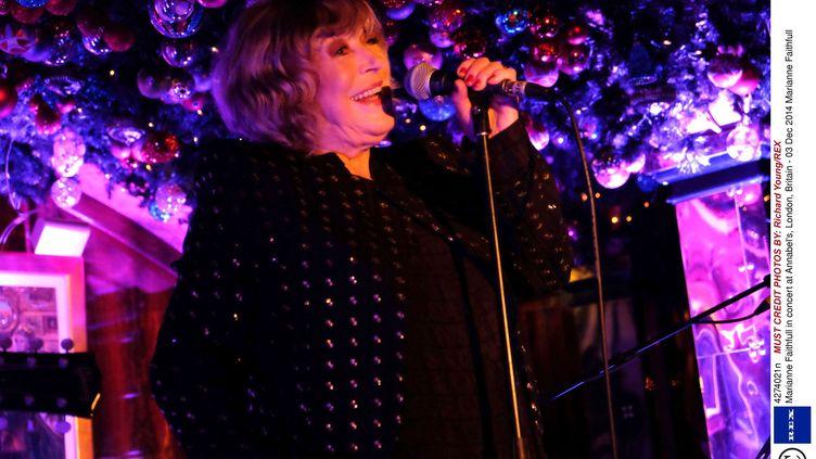 Marianne Faithfull en concert à Londres, le 3 décembre 2014 (RICHARD YOUNG/REX / REX / SIPA)