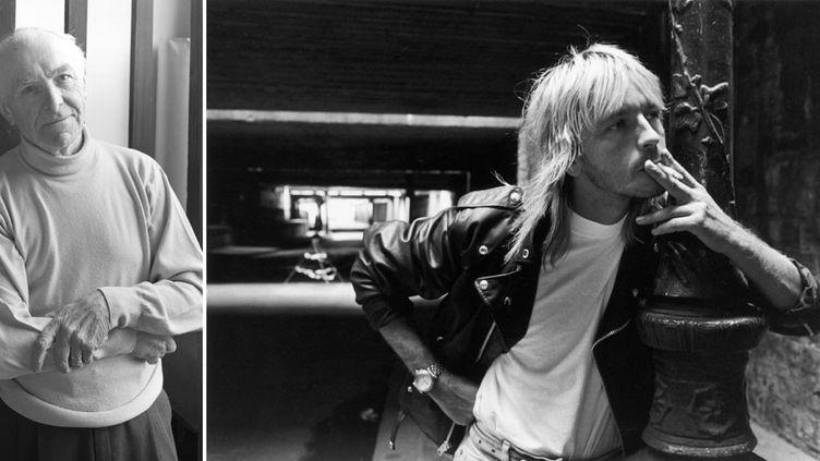 A gauche, Robert Doisneau à Montrouge - A droite, Renaud par Doisneau, Paris, 1988  (A gauche © Despatin & Gobeli / Opale / Leemage / AFP - A droite © Robert Doisneau / Gamma Rapho)