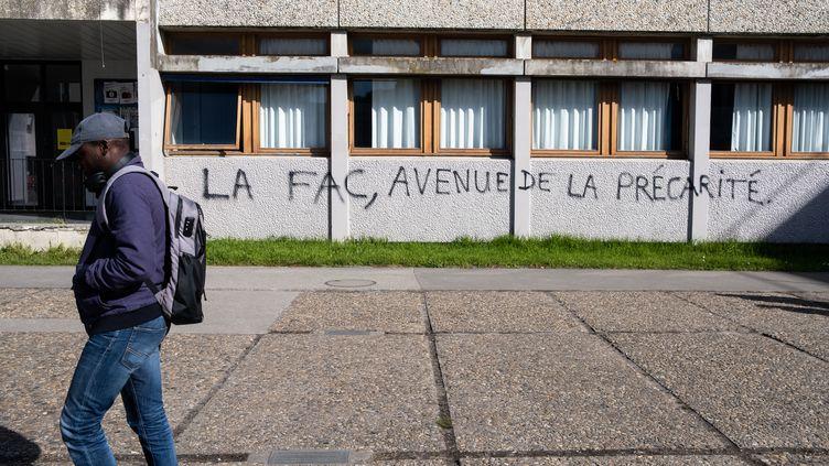 Sur le campus de Talence appartenant à l'université Bordeaux-Montaigne-Montesquieu. Photo prise le 21 février 2020. (VALENTINO BELLONI / HANS LUCAS)