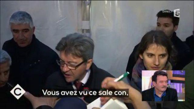 """Quand Jean-Luc Mélenchon traite un journaliste de """"sale con"""""""