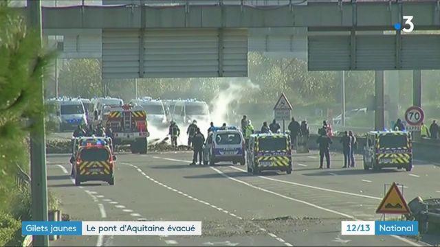 """""""Gilets jaunes"""" : l'un des plus importants blocages a été évacué à Bordeaux"""