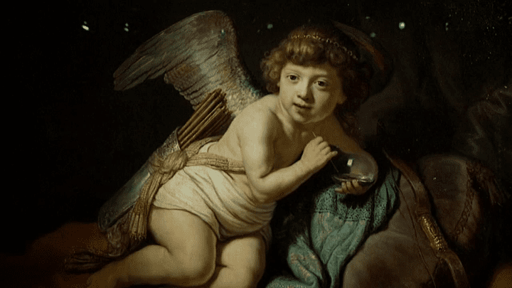 """Amour à la bulle de savon"", Rembrandt (1634)  (F3 / Culturebox / LIECHTENSTEIN. The Princely Collections, Vaduz–Vienna)"