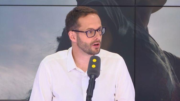 David Belliard, tête de liste des écologistes pour les municipales à Paris en 2020, jeudi 27 juin 2019 sur franceinfo. (FRANCEINFO / RADIOFRANCE)