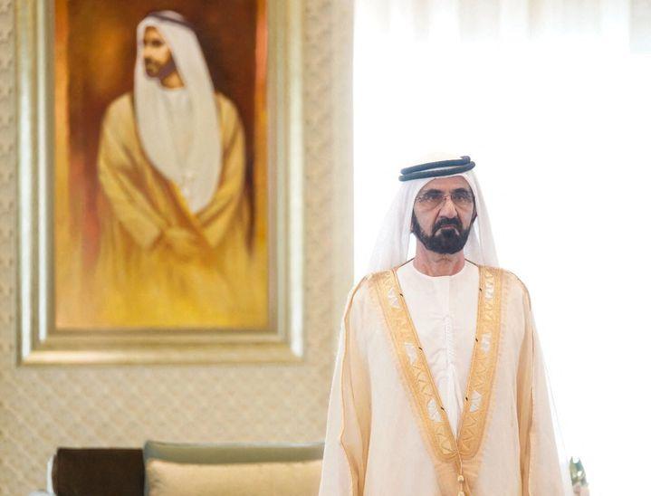 Mohammed ben Rachid Al Maktoum, vice-président, Premier ministre et ministre de la Défense des Emirats arabes unis, le 30 août 2021 à Dubai. (EYEPRESS NEWS VIA AFP)