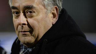 Le maire de Cholet (Maine-et-Loire), Gilles Bourdouleix, lors d'un match au stade Pierre-Blouen, le 21 janvier 2015. (JEAN-SEBASTIEN EVRARD / AFP)