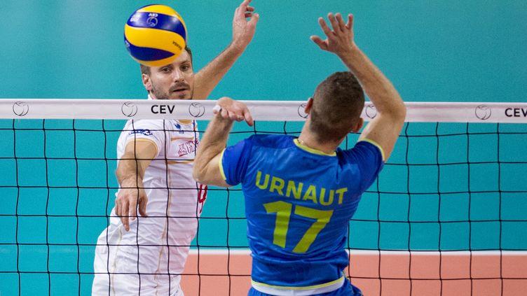 Antonin Rouzier, MVP de cet Euro de volley 2015 (NIKOLAY DOYCHINOV / AFP)