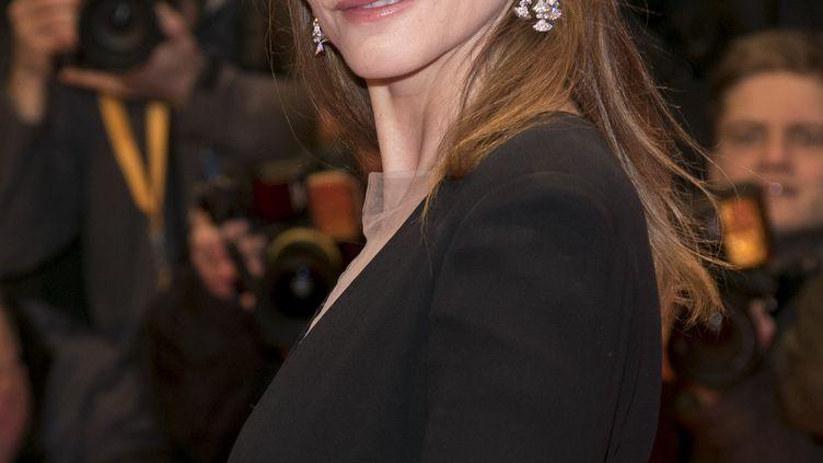 Clotilde Coureau au festival de Berlin (Allemagne), le 9 février 2017. (HUBERT BOESL / DPA)