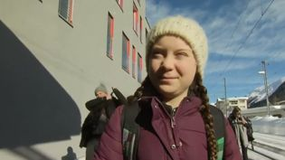 À Davos, en Suisse, la jeune Greta Thunberg est venue passer son message pour le climat aux grands patrons et aux chefs d'État. (FRANCE 2)