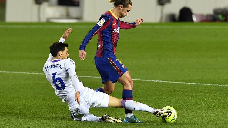 Antoine Griezmann (FC Barcelone) lors du match de Liga contre Eibar. (PAU BARRENA / AFP)