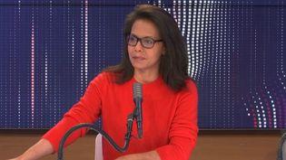 """Audrey Pulvar invitée du """"8.30 franceinfo"""", dimanche 20 décembre 2020. (FRANCEINFO / RADIOFRANCE)"""