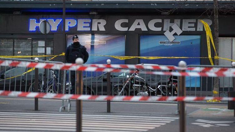 (L'épicerie casher de la porte de Vincennes où Amédy Coulibaly a tué quatre personnes © Maxppp)