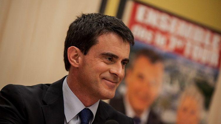 Le Premier ministre, Manuel Valls, à Audincourt (Doubs), mardi 27 janvier 2015. (SAMUEL COULON / CITIZENSIDE / AFP)