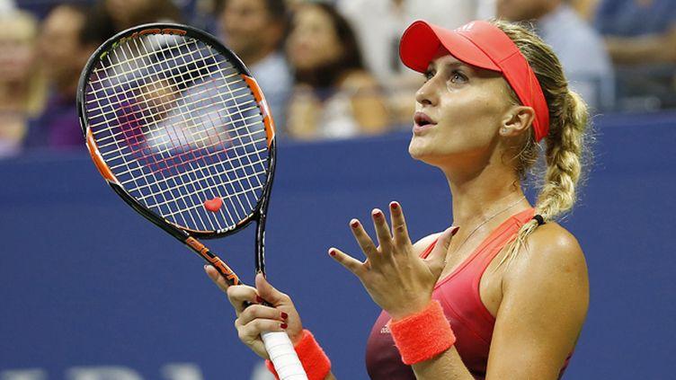 (Premier quart de finale en Grand Chelem pour Kristina Mladenovic à l'US Open © Reuters)