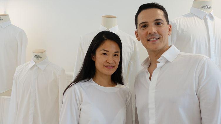 Youn Chong Bak et Adel Najah, co-fondateurs de la marque suisse Essuis, juin 2017 à Paris  (Corinne Jeammet)