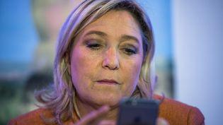 Avant même l'annonce du résultat officiel, la présidente du Front National, Marine Le Pen, a félicité Donald Trump sur Twitter pour sa victoire. (PHILIPPE HUGUEN / AFP)