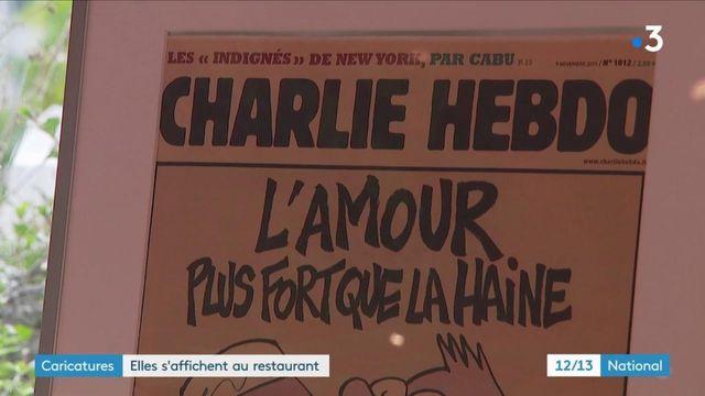 Liberté d'expression : un restaurateur affiche les caricatures
