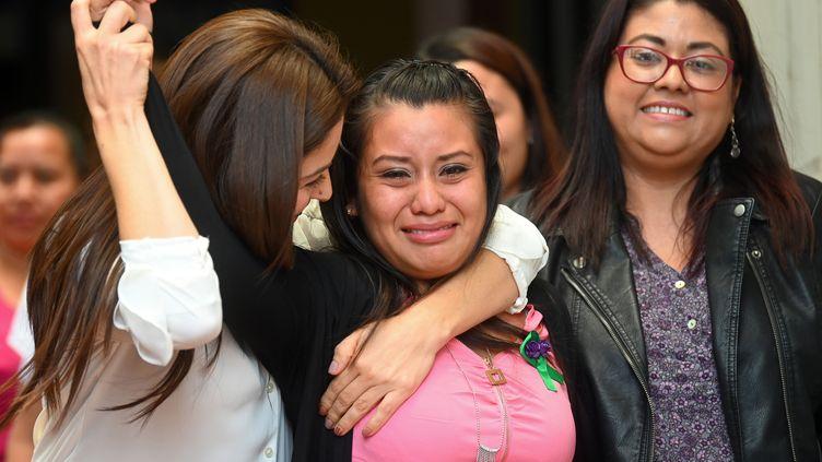 Evelyn Hernandez le 19 août 2019 à Ciudad Delgado (Salvador). (OSCAR RIVERA / AFP)
