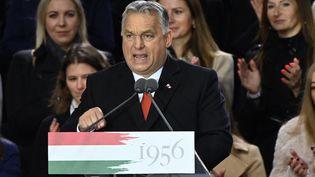 Le Premier ministre hongroisViktor Orban, le 23 octobre 2021 à Budapest (Hongrie). (ATTILA KISBENEDEK / AFP)