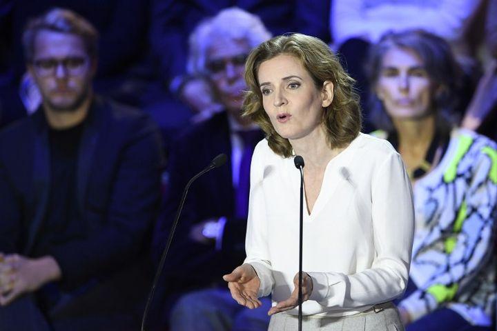 Nathalie Kosciusko-Morizet lors du deuxième débat télévisé entre les candidats à la primaire à droite, le 3 novembre 2016. (ERIC FEFERBERG / AFP)