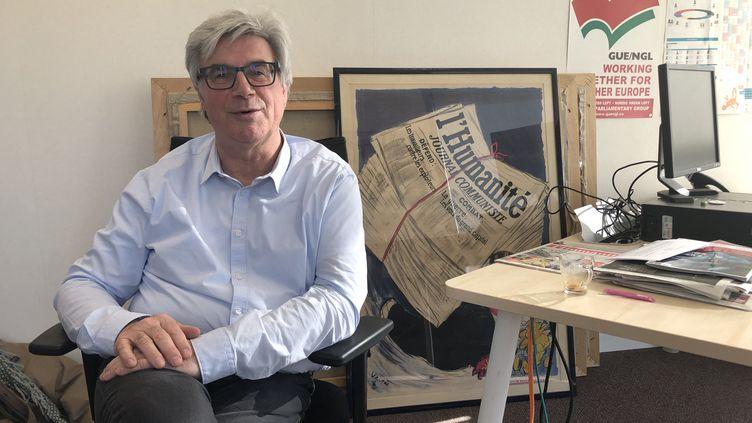 """Patrick Le Hyaric, directeur du journal""""L'Humanité"""". (NATHALIE LOPES / FRANCE-CULTURE)"""