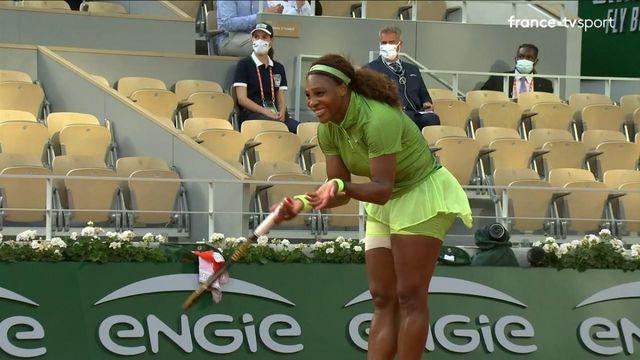 2e tour : Point exceptionnel entre Serena Williams et Mihaela Buzarnescu