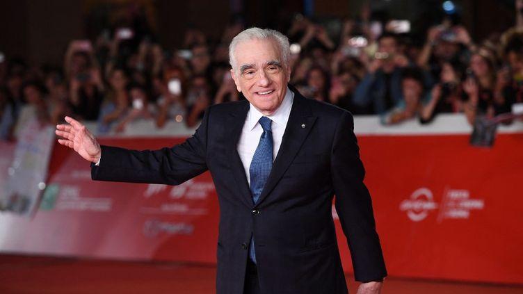 """Le réalisateur américain Martin Scorsese sur le tapis rouge du 14e Festival de film de Rome, le 21 octobre 2019, pour la projection de """"The Irishman"""". (EKATERINA CHESNOKOVA / SPUTNIK)"""