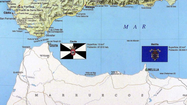 Ceuta et Melilla, deux enclaves espagnoles en territoire marocain (MORENATTI/EFE AGENCIA/SIPA)