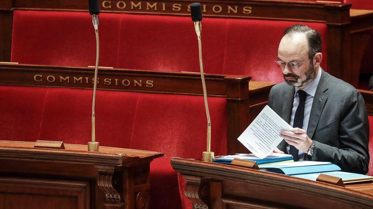 Le Premier ministre, Edouard Philippe, le 25 février 2020 à l'Assemblée nationale. (LUDOVIC MARIN / AFP)
