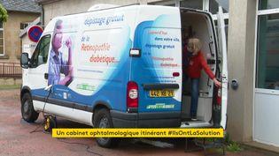 Une camionette sillonne la Nièvre pour dépister les rétinopathies diabétiques (France 3 Bourgogne Franche-Comté)