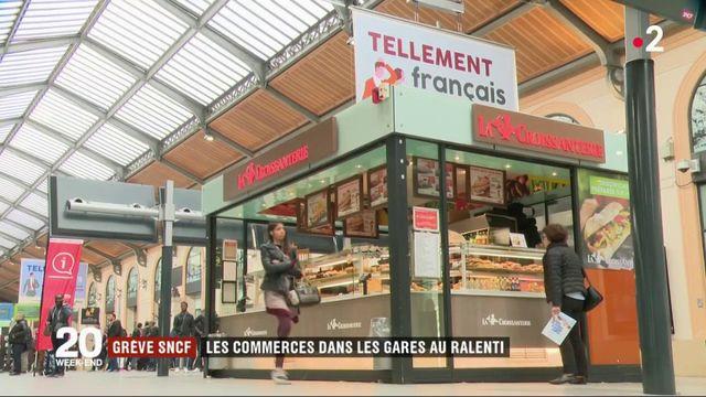 Grève SNCF : les commerces dans les gares au ralenti