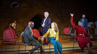 """""""La Cerisaie"""" de Anton Tchekhov, avec Isabelle Huppert au centre (CHRISTOPHE RAYNAUD DE LAGE)"""