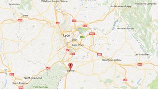 Les faits se sont déroulés à Vienne, au sud de Lyon, dans l'Isère. (CAPTURE ECRAN GOOGLE MAPS)