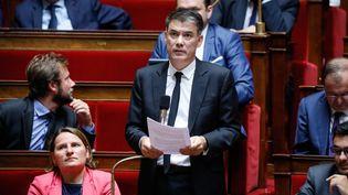 Le premier secrétaire du PS et député Olivier Faure, lors de la séance de questions au gouvernement du 24 juillet 2018 à l'Assemblée nationale. (MAXPPP)