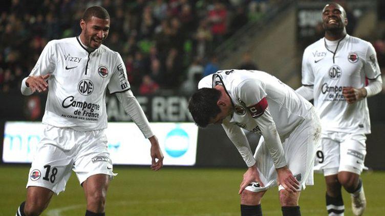 Julien Féret, auteur de trois passes et d'un but contre son ancienne équipe. (DAMIEN MEYER / AFP)