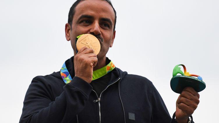 Fehaid Aldeehani, athlète olympique indépendant, emporte la médaille d'or (PASCAL GUYOT / AFP)