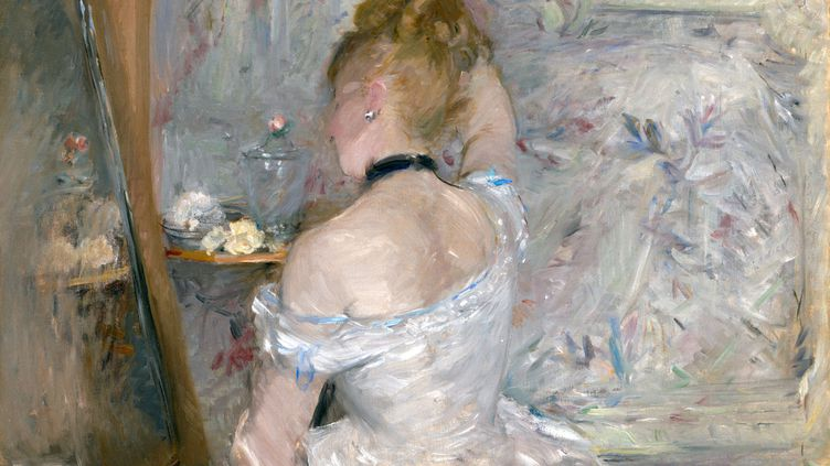 "Berthe Morisot, ""Femme à sa toilette"" (1875-1880)Chicago, Art Institute of Chicago, Stickney Fund, 1924 (© Image Art Institute of Chicago)"