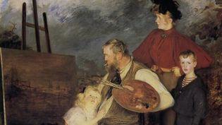 """""""La Famille Thaulow"""", huile sur toile peinte en 1895  (Jacques-Emile Blanche / Musée d'Orsay)"""
