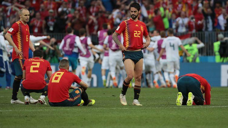 La Russie fait tomber l'Espagne. (VITALIY BELOUSOV / SPUTNIK)
