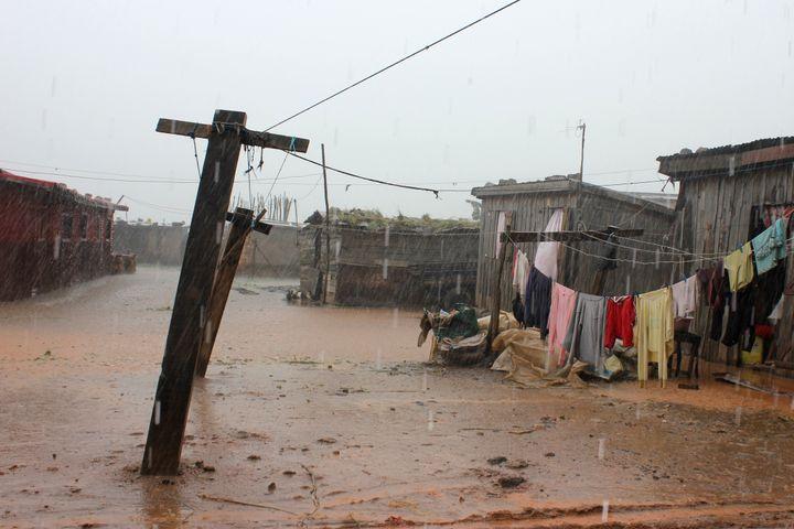 Inondation dans le sud d'Antananarivo le 6 janvier 2018. (LAETITIA BEZAIN / DPA)