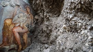 Cette fresque dépeint les ébats torrides de la reine de Sparte Léda avec Zeus qui a pris la forme d'un cygne.  (AGF/SIPA)