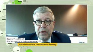 Pascal Morel, directeur médical et de recherche de l'EFS, était l'invité de la chaîne franceinfo, lundi 14 juin. (FRANCEINFO)
