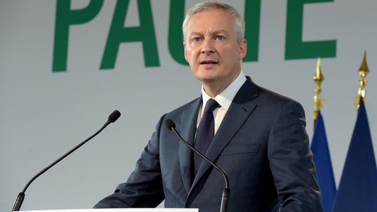 Le ministre de l'Economie et des finances, Bruno Le Maire, à Bercy, le 15 octobre 2019. (ERIC PIERMONT / AFP)