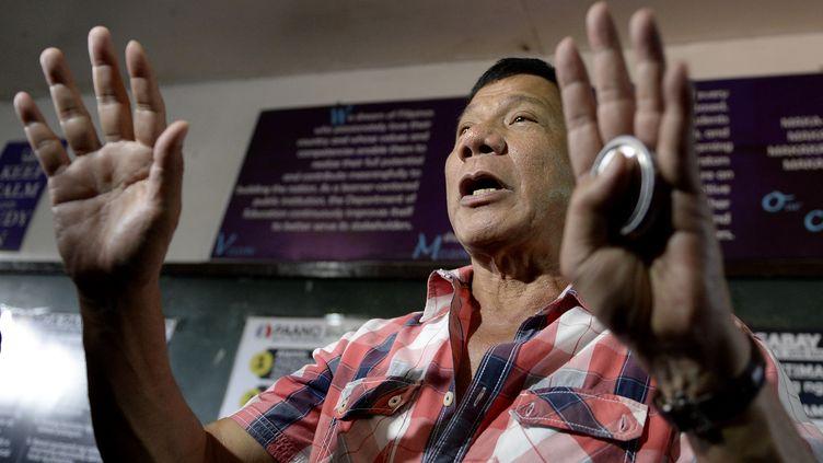 Le président élu des Philippines, Rodrigo Duterte, le 9 mai 2016 à Davao (Philippines). (NOEL CELIS / AFP)