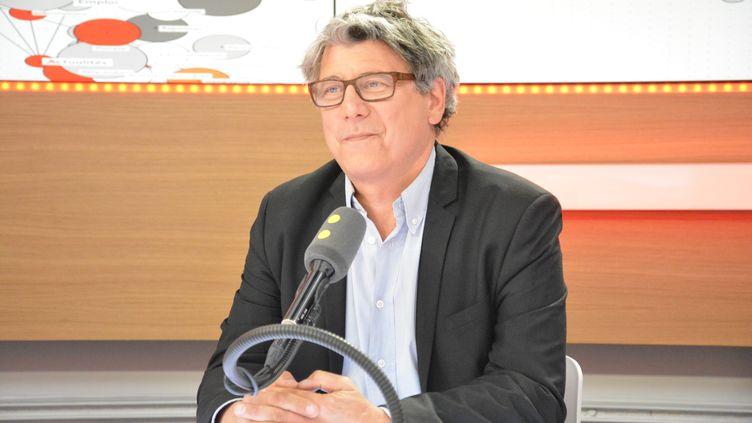 Eric Coquerel, coordinateur du Parti de Gauche, soutien de Jean-Luc Mélenchon. (RADIO FRANCE / JEAN-CHRISTOPHE BOURDILLAT)