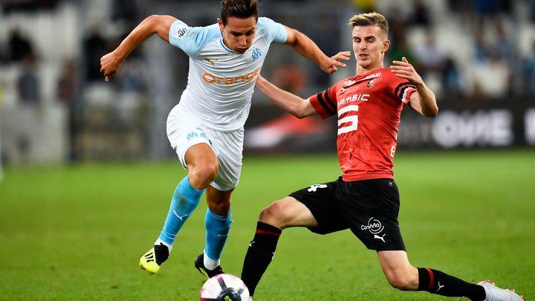 Florian Thauvin face à Rennes (CHRISTOPHE SIMON / AFP)