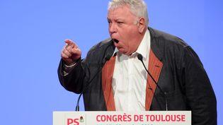 Gérard Filoche lors du congrès du Parti socialiste à Toulouse (Haute-Garonne), le 27 octobre 2012. (ERIC CABANIS / AFP)