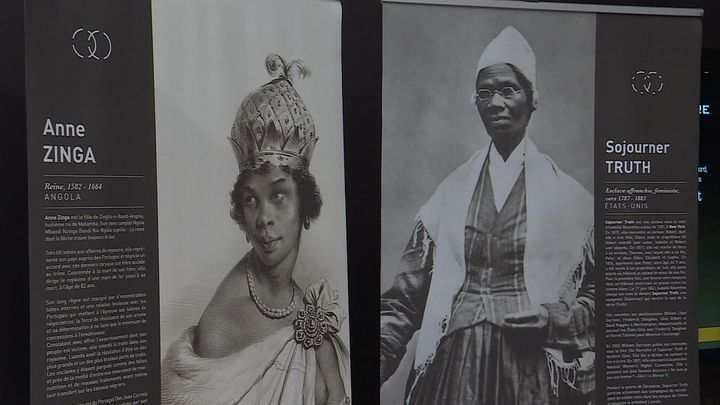 ExpositionDix femmes puissantes, portraits de femmes en lutte contre l'esclavage colonial- Espace muséographique Victor SchoelcheràFessenheim (O. Barthélémy / France Télévisions)