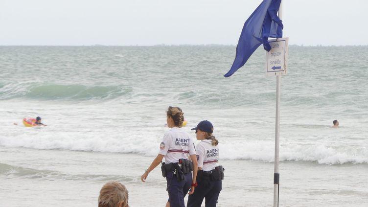Une patrouille de police circule à l'Île de Ré, le 7 juillet 2020. (PIERRE TEYSSOT / MAXPPP)