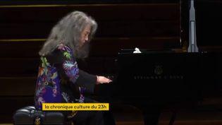 La pianiste Martha Argerich. (franceinfo)